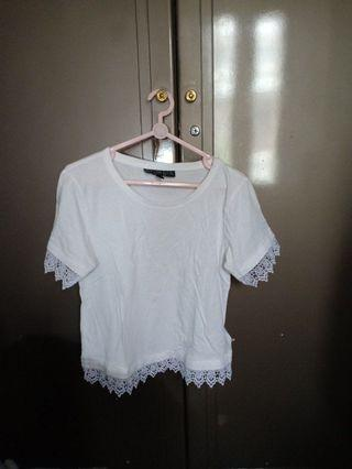 white tee with lace
