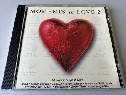 Moments in Love 2 songs CD