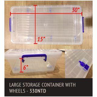 密封防潮收納箱塑膠(有輪子)Storage with wheels