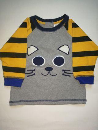 Baby Long Sleeve Tshirt Cat