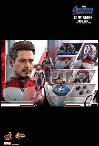 Hottoys Ironman Tony Stark(Team Suit)訂單量子服/手套次日(11/5)訂單 Marvel Avengers End Game 復仇者聯盟4 終局之戰