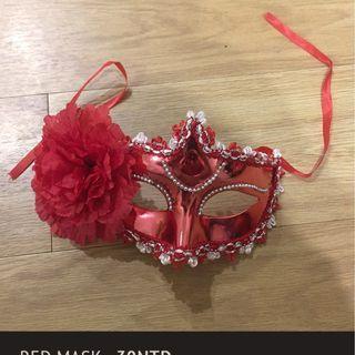 🚚 Red Mardi Gras Mask 狂歡節面具
