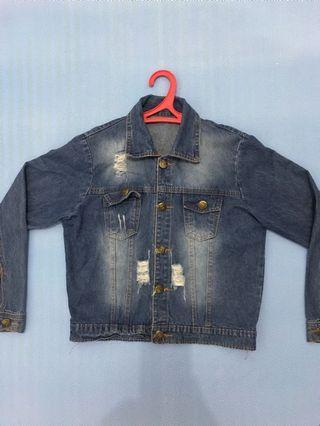 jaket jeans washed