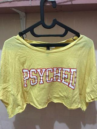 Crop Tee yellow Psyched