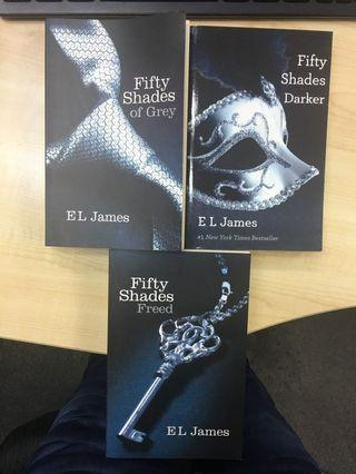Fifty Shades Of Grey Darker & Freed Set Of 3 Books by EL James in Excellent Condition
