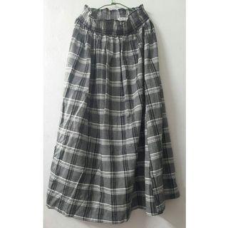 🌙全新 商品🌙NET 韓版棉質格紋長裙(36 SIZE)
