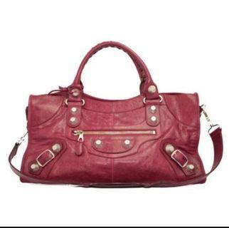 Balenciaga Giant Part Time Bag in Rose Gold Hardware