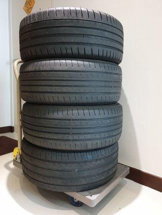 *fast deal offer* Letting go 4pcs used tyres 225/45/17