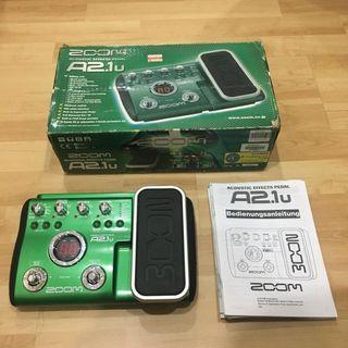 Zoom A2.1u Guitar Multi Acoustic Effect Pedal #MGAG101