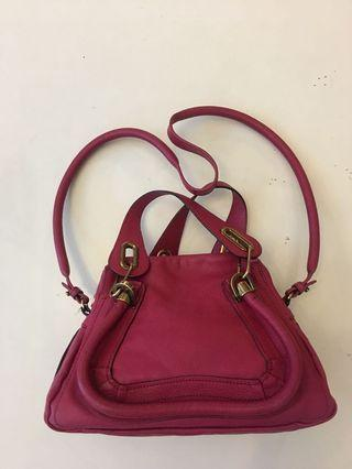 Chloe paraty leather fushia pink mm Sz ghw come with dustbag & authenticity card