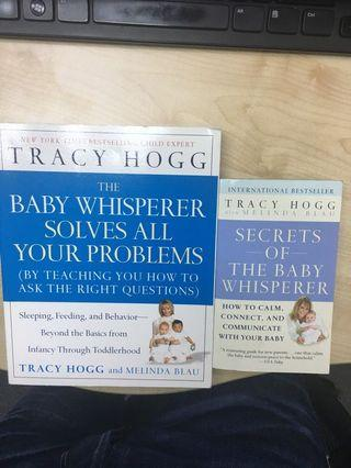 Tracy Hogg The Baby Whisperer Solves All Your Problems & Secrets Of the Baby Whisperer Set Of 2 Books in Excellent Conditioner