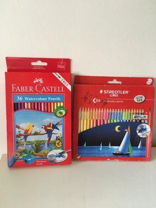 Watercolor pencils (two sets)