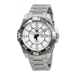 Seiko 5 White SRPA63K1 SRPA63 SRPA Automatic Stainless steel Watch