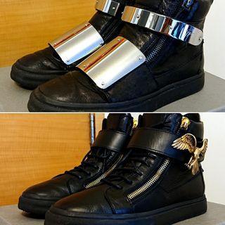 2 pairs Giuseppe Zanotti Hi-top Sneakers