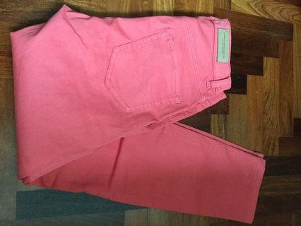 H&M LOGG womens coral watermelon pink jeans