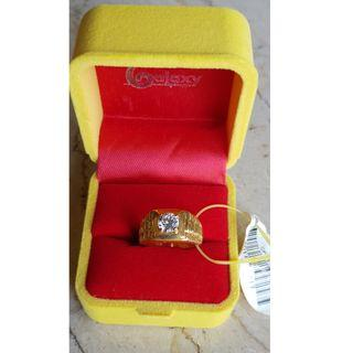 Zirconia Ring 20K gold plated