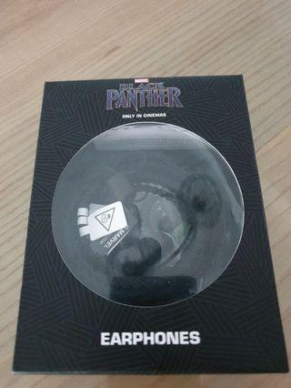 BN - Black Panther Earphones (Free Sports Armband for Phone)
