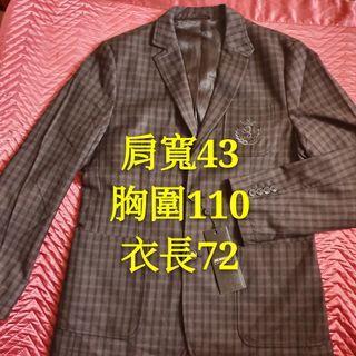 全新XL學院風格子外套