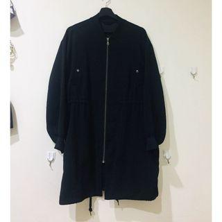 🚚 GU黑色外套 (L) Black Bomber Jacket
