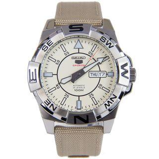 Seiko 5 SRPA67K1 Automatic Nylon Beige Men's Watch SRPA67 SRPA