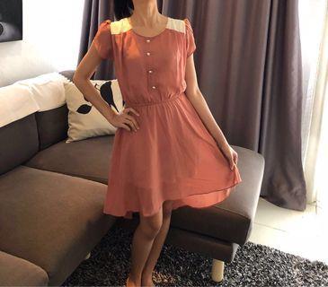 Preloved Party Cute Dress Brown [SALE]