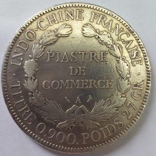French Indochina 1 piastre 1907