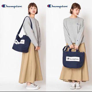 Champion sling tote bag