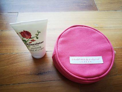 Crabtree and evelyn bag and lotion