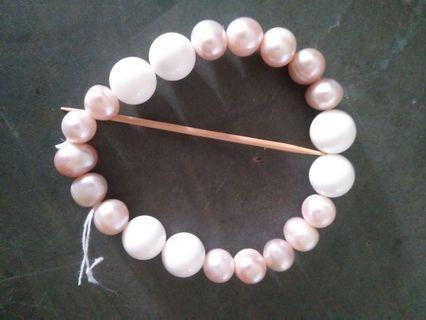 天然硨磲淡水珍珠手串