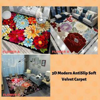 Carpet 3D velvet