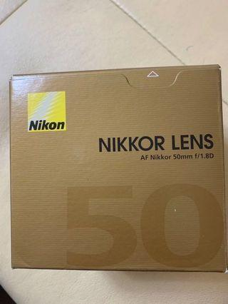 Nikon Nikkor Lens AF Nikkor 50mm F/1.8D