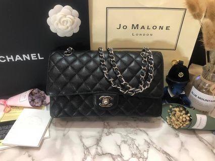 Chanel coco 25 黑牛銀