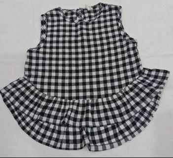 Checkered Top for girl