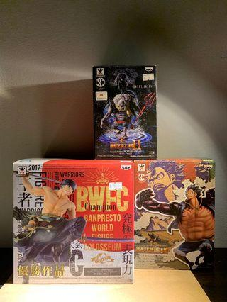 Banpresto BWFC Monkey D Luffy, Roronoa Zoro and Hordy Jones