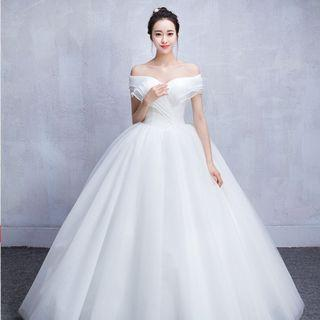Off Shoulder White Wedding Dress for Rent