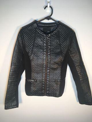 Fake leather jacket size 8