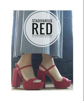 Wedges/platform red shoes 100% original from Stradivarius
