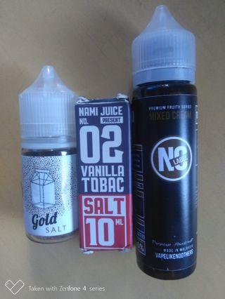 saltnic and freebase flavours