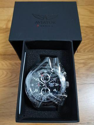 🚚 Bnib Aviator F Series World Time Chronograph Watch