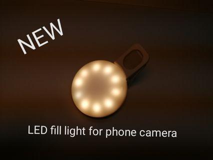 Led fill light for phone