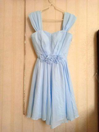 Dress pastel light blue