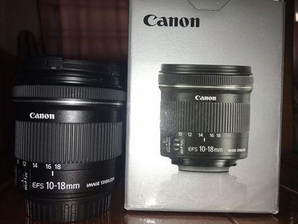 🚚 Canon EFS 10-18 mm  Ultra wide angle lens