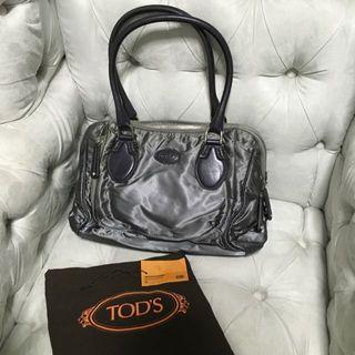 Tod's Handbag - Nylon With Leather Trim