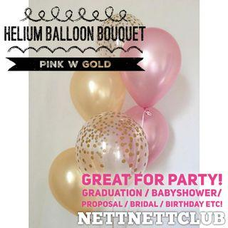 *NEW!* - Lovely Helium Balloon Bouquet 🎈 / Party / Surprise / Graduation / Proposal / Anniversary / Birthday / Gift / Balloons / Wedding Bridal / Baby Shower