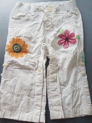 Baby Gap Floral White Pants