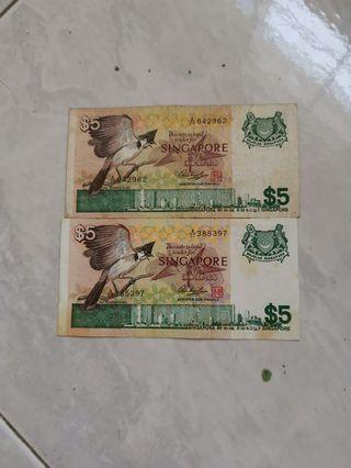 🚚 Old Notes $5 birds