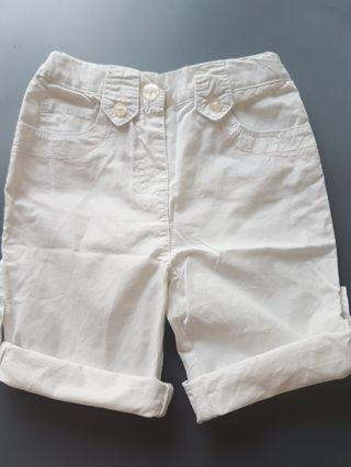 French Obaibi White Shorts Bermudas