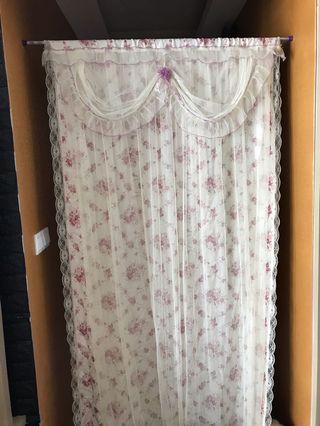 Victorian door curtain