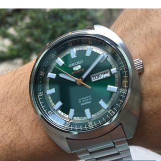 *MADE IN JAPAN* Seiko 5 Sports SRPB13J1 Green Turtle Automatic Stainless Steel Analog Watch SRPB13 SRPB