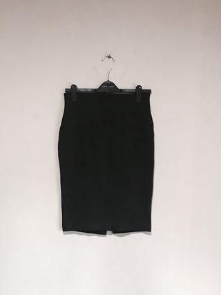 ZARA Pretty Dark Grey Work Pencil Skirt #mauvivo #ramadansale